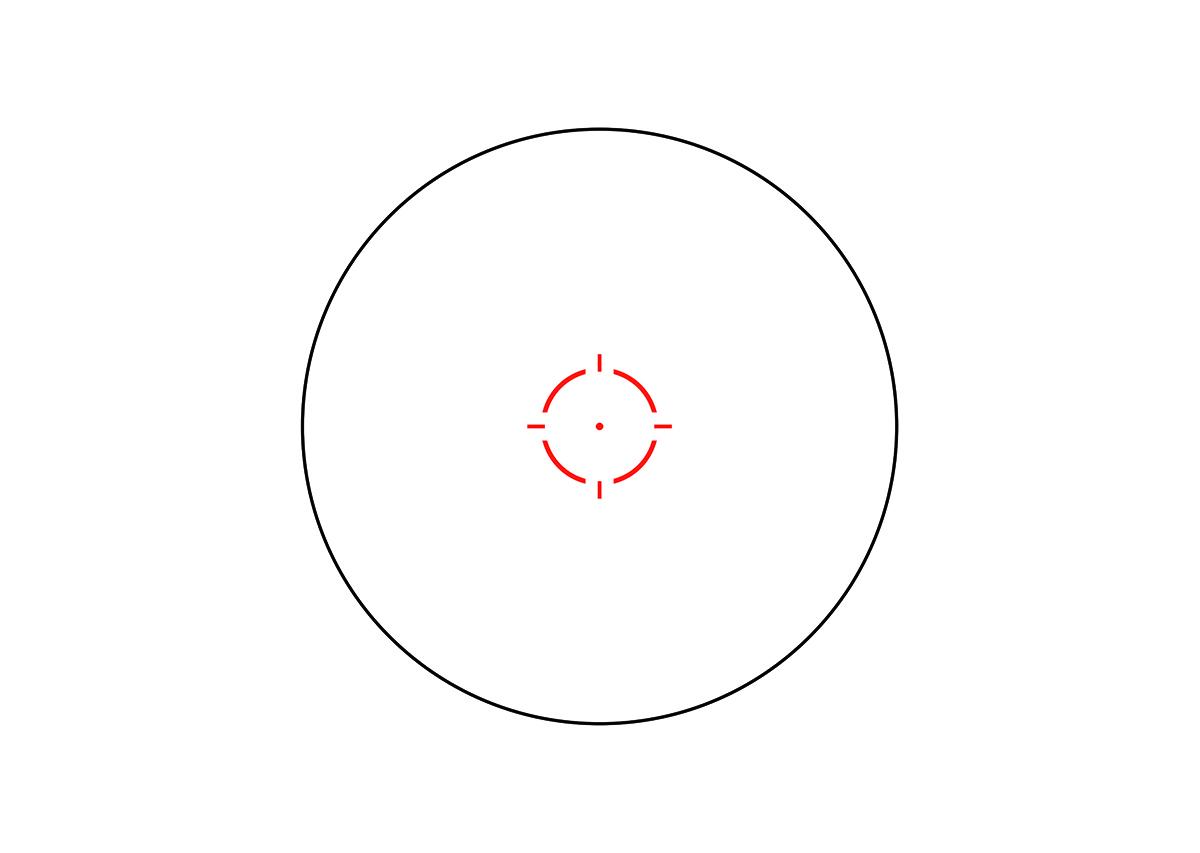 Trijicon MRO HD 1x25 Red Dot Sight Reticle 2